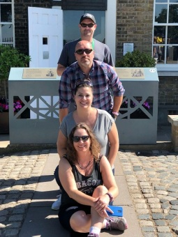Me, Taryn, Brent and Brandon, on the Prime Meridian in Greenwich