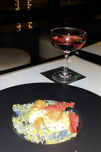 My scallops and cranberry cocktail