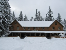 National Park Inn in snow
