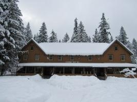National Park Inn in snow
