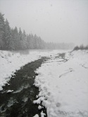 The Nisqually River in snow