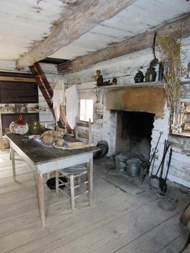 Slave quarters interior
