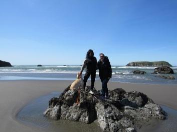 Lelani, Me and Shaka (lol!) at Meyers Beach North