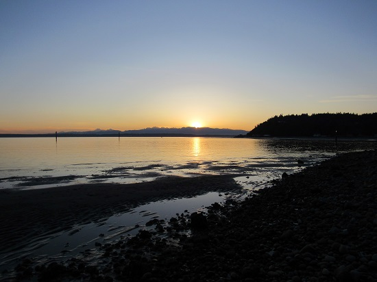 The sunset on Whidbey Island