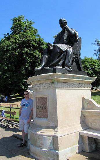 Brandon posing in Hyde Park