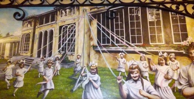 The creepiest mural ever
