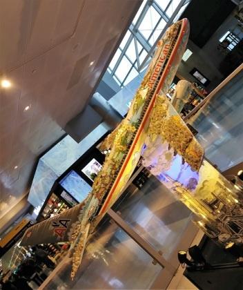 A plane sculpture at JFK