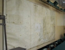 One of the maps in the map room