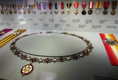 Some of the many medals that Churchill was awarded.