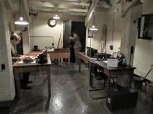 A staff work room