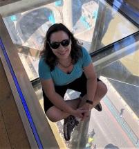 Me on the glass panel