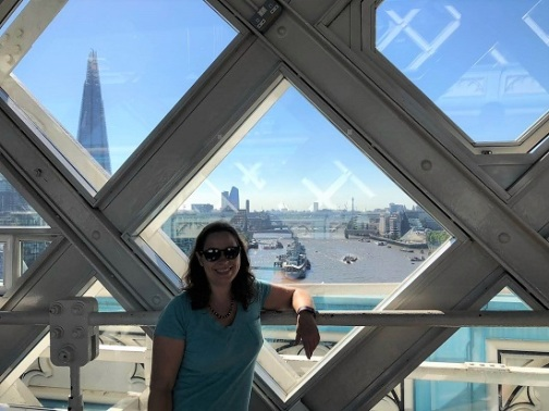 Me on the Upper Walkway, with The Shard in the background