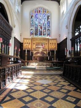 The altar at St. Margaret's