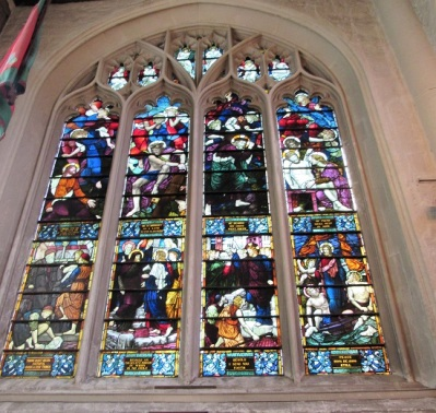 Stained glass window at St. Margaret's