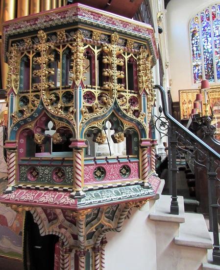 The pulpit at St. Margaret's