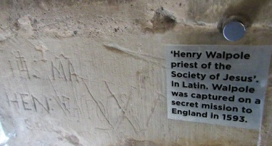 Graffiti from one of the tower's prisoners.