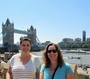 Me and Taryn with the Tower Bridge in the background