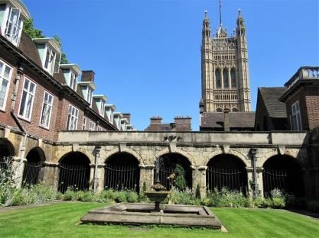 An atrium (courtyard) at the abbey
