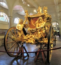The back of the Gold State Coach - built in 1762