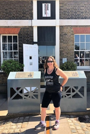 Posing again with the Prime Meridian