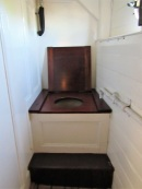 The Officer's head - a historic toilet!