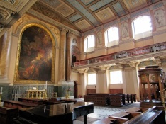 The altar in the chapel