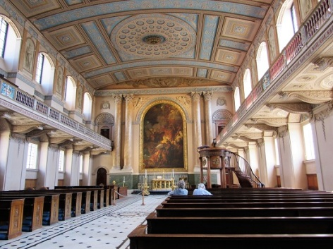The chapel at the Naval College