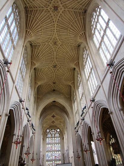 The Bath Abbey ceiling - wow!