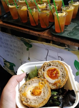 My Scotch Egg and Iced Tea