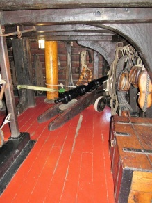 Below decks on the Golden Hinde