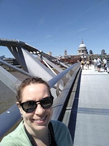 Me on the Millennium Bridge (with St. Paul's)