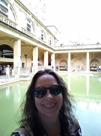 Me with the Roman Baths