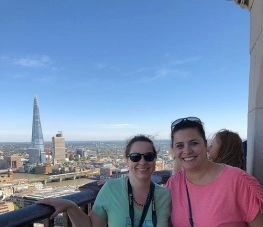 Me and Taryn with the Shard in the background