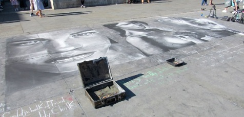 Street art portraits