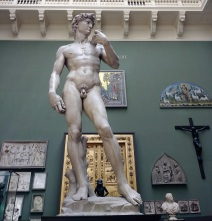 A replica of Michaelangelo's David