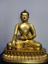 A gold statue