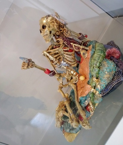 A fancy ceramic skeleton