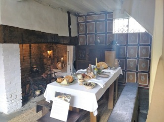The dining room at Shakespeare's childhood home