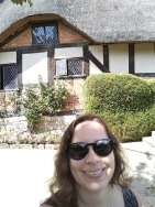 Me at the Hathaway Cottage