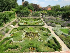 The garden at the site of Shakespeare's adulthood home