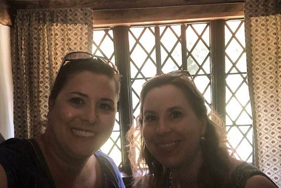 Taryn and me in Shakespeare's childhood home