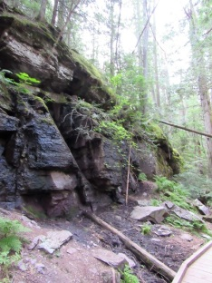 Rocks along the Avalanche Trail