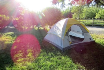 My tent at Deer Lodge