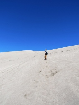 Out in front at Great Sand Dunes National Park