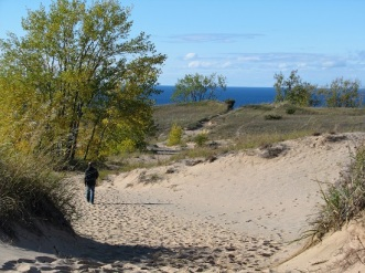 Out in front at Sleeping Bear Dunes National Lakeshore