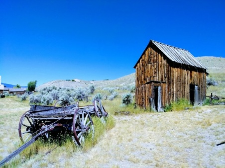 Wagon and Barn