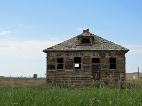 An abandoned house in Montana