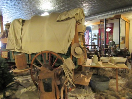 A Covered Wagon exhibit