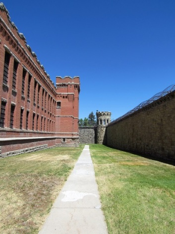 The Wall of the Cell Block and the Outer Wall (on right)