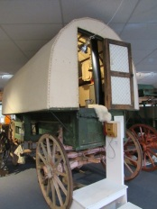 The exterior of a sheepwagon